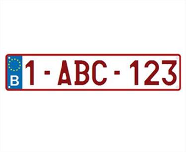 Afbeelding van Europese nummerplaat
