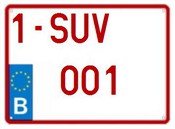 Afbeelding van Jeep-nummerplaat (EU)