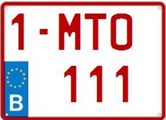 Afbeelding van Motor-nummerplaat (EU)