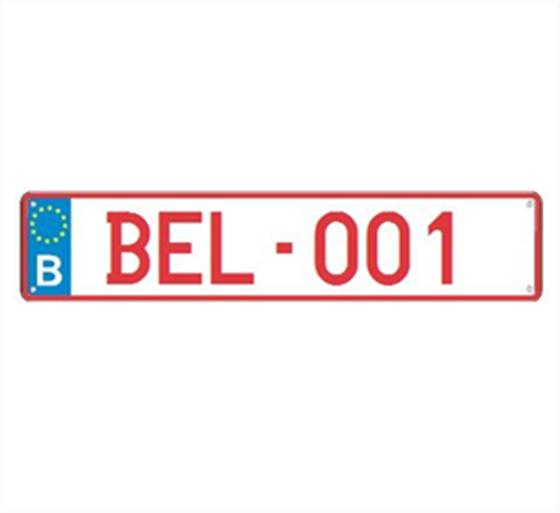 Afbeelding van Oude Belgische nummerplaat