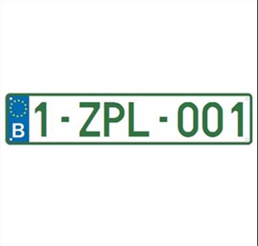 Afbeelding van Z-nummerplaat EU-model